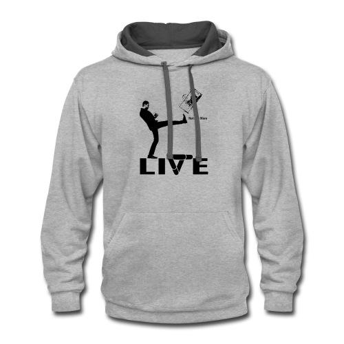 live - Contrast Hoodie