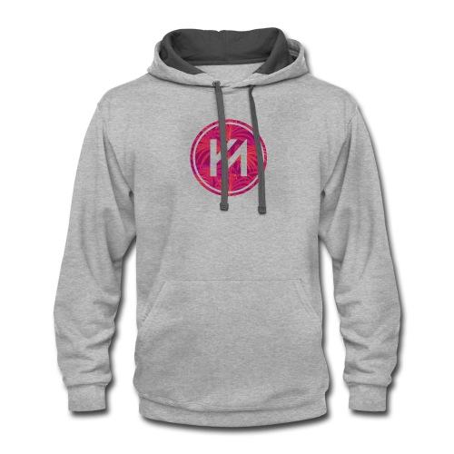 KM logo - Contrast Hoodie