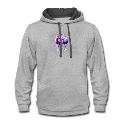 Skull vs galaxies - Contrast Hoodie