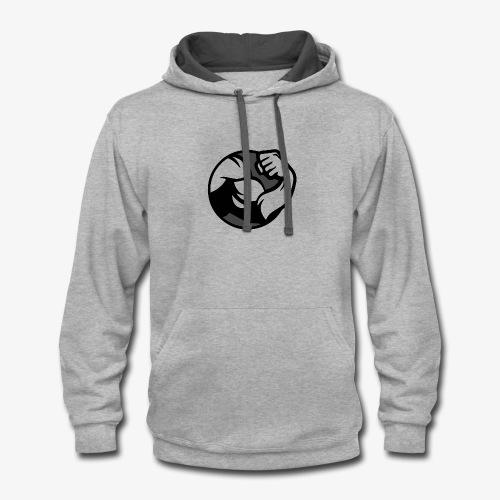 Black and Grey Performance - Contrast Hoodie