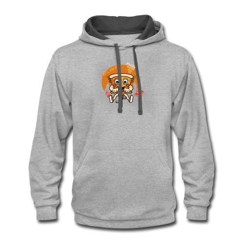 PIZZA 50 off - Contrast Hoodie
