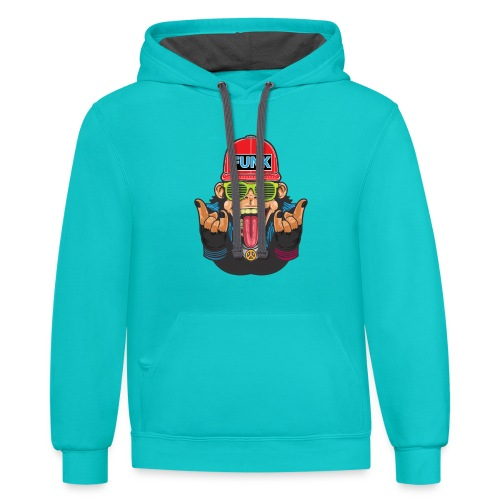 Funky monkey T_Shirt - Contrast Hoodie