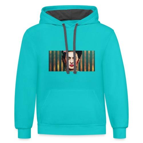 frida kahlo - Contrast Hoodie