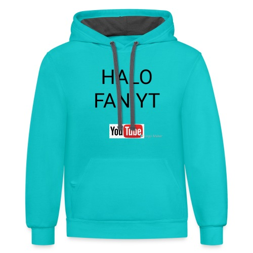 Halo fan and fnaf YouTube channel merch - Contrast Hoodie