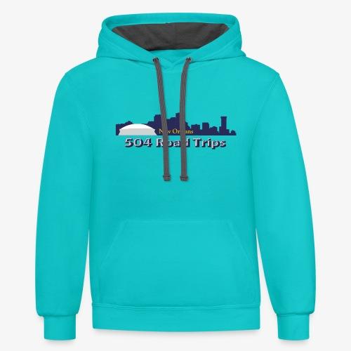 New Orleans Skyline Logo - Contrast Hoodie