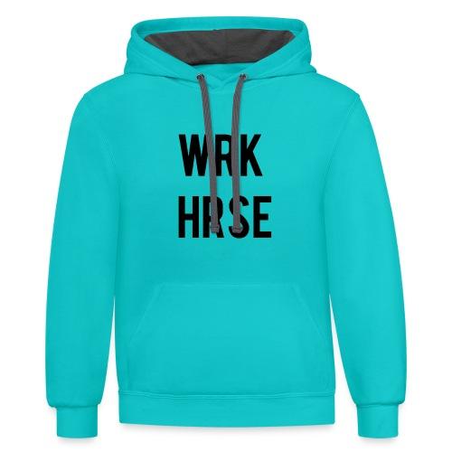 wrk basic - Contrast Hoodie