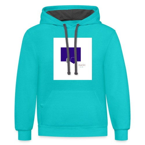 Simple Rectangle - Contrast Hoodie