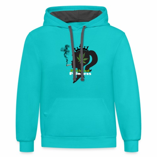 Pothead Princess custom white text - Contrast Hoodie