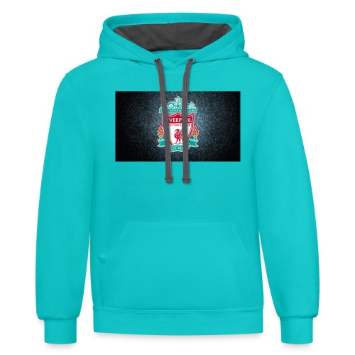 liverpool shirt - Contrast Hoodie