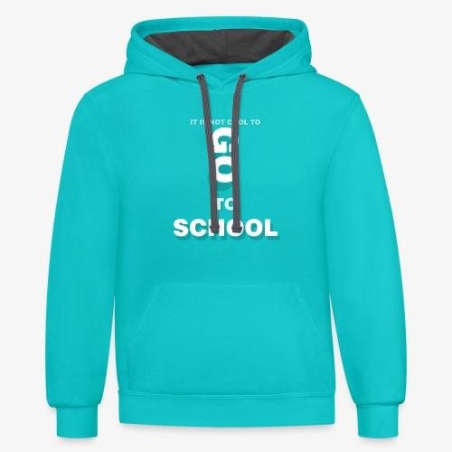 GO TO SCHOOL - Contrast Hoodie