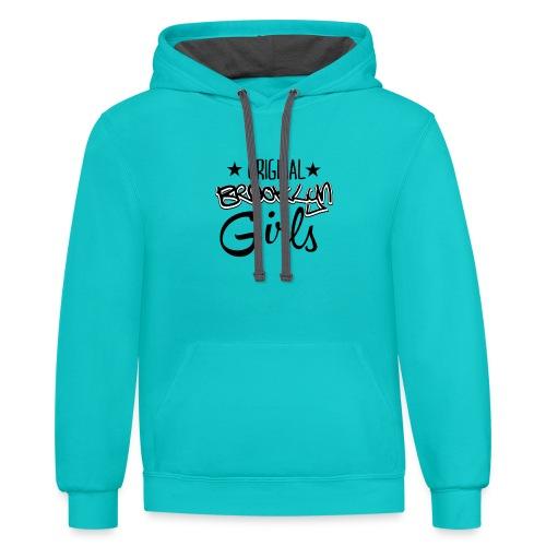 original girls gift tees - Contrast Hoodie