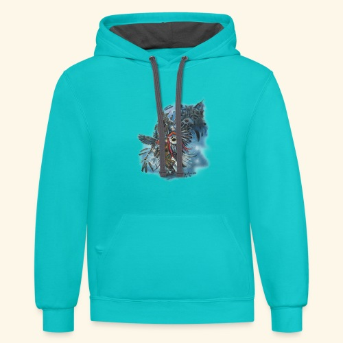 KINDRED SPIRITS - Contrast Hoodie