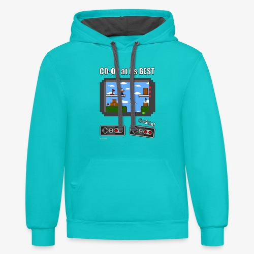 Pixel Art: CO-OP at its BEST - Contrast Hoodie