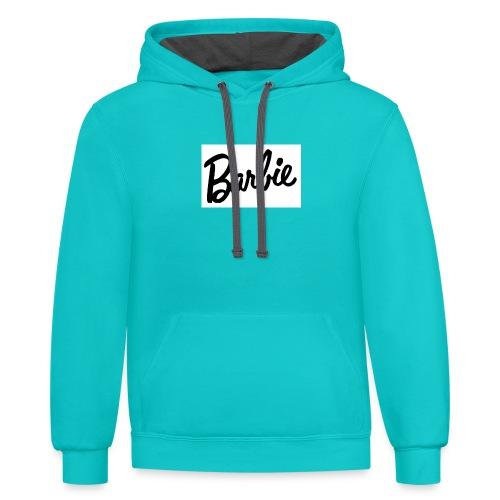 Barbie shirt - Contrast Hoodie