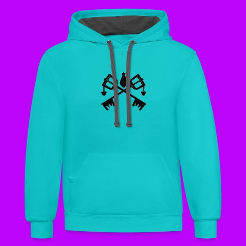 The Keyblades of Fate Inverted - Contrast Hoodie
