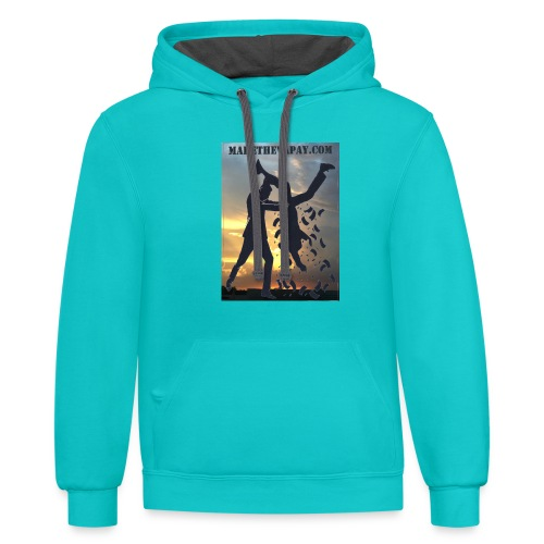 MAKE THE VA PAY - Contrast Hoodie