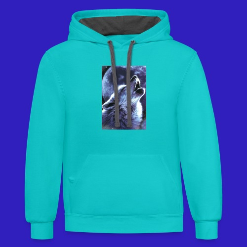 alpha plays shirts - Contrast Hoodie