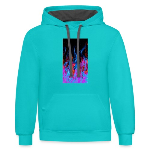 The flame. - Contrast Hoodie