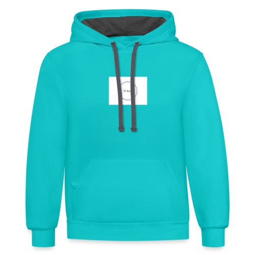 Blue Ring Volleyball (Katie) design logo - Contrast Hoodie