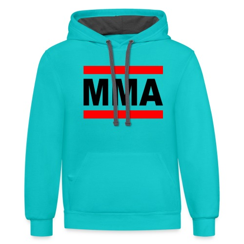 MMA Logo - Mixed Martial Arts - Contrast Hoodie