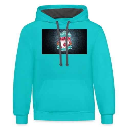 liverpool shirt - Contrast Hoodie