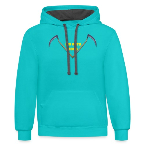Im with noob - Contrast Hoodie