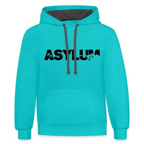 Asylum Logo black - Contrast Hoodie