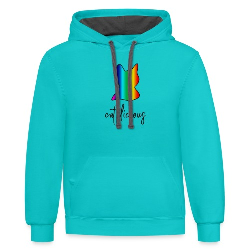 cat tilicious - Contrast Hoodie