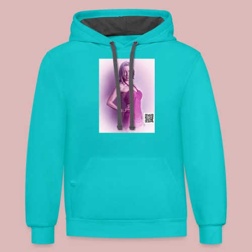 Swimsuit babe - Contrast Hoodie