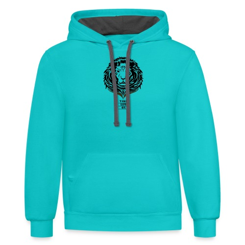 Lion Take life on - Contrast Hoodie