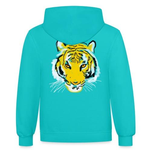Tiger head - Unisex Contrast Hoodie