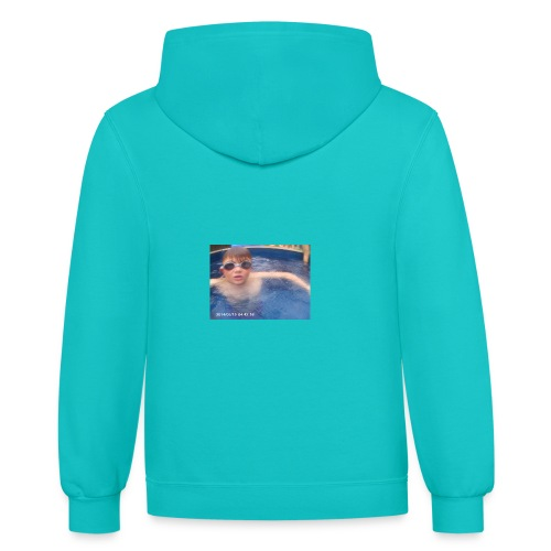 awesomely - Contrast Hoodie