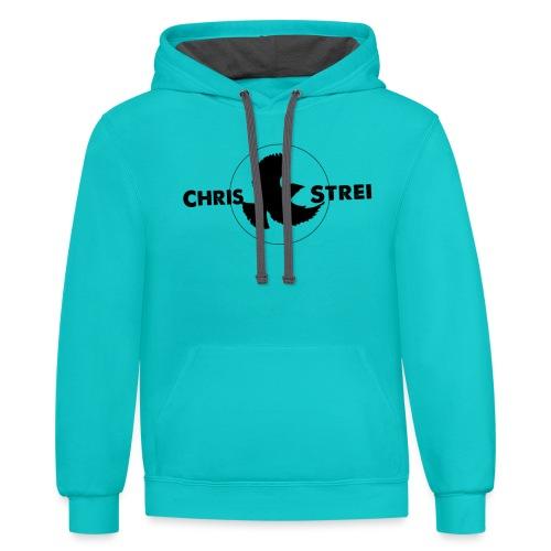 Chris Strei BlackBird Logo - Unisex Contrast Hoodie
