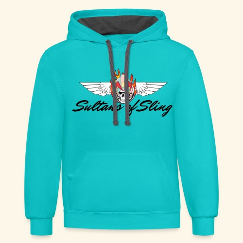 Sultans of Sling Shirt Logo - Unisex Contrast Hoodie