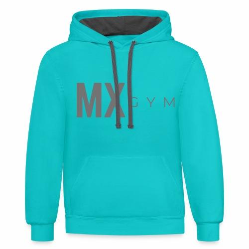 MX Gym Minimal Long Grey - Unisex Contrast Hoodie