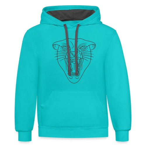 Tiger Print Unisex T-shirts and Hoodies - Unisex Contrast Hoodie