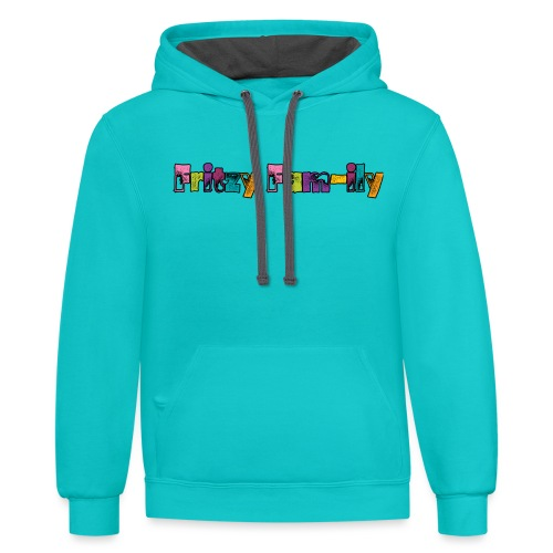 Fritzy FAM-ily Grunged - Unisex Contrast Hoodie