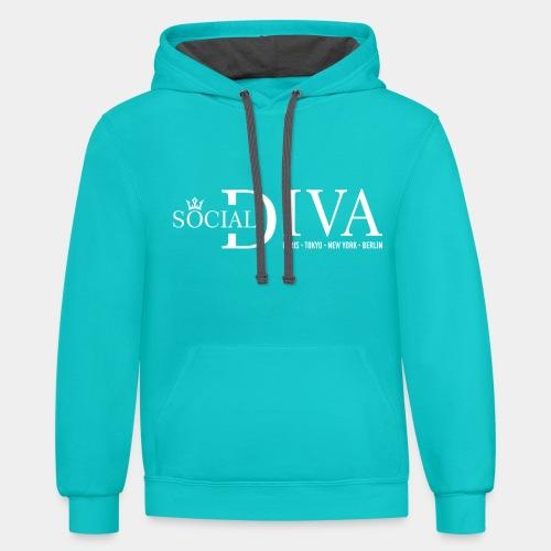 social diva fashion - Unisex Contrast Hoodie