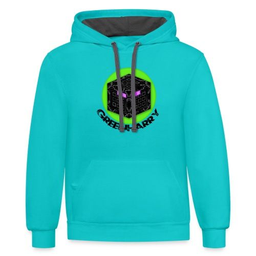 2018LogoText png - Unisex Contrast Hoodie