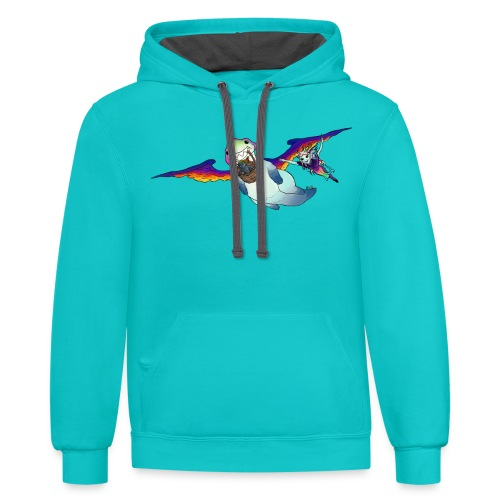 FLY WITH US - Contrast Hoodie