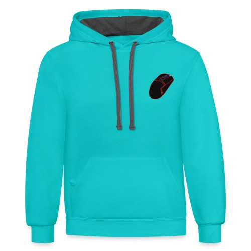 Mouse Logo - Unisex Contrast Hoodie