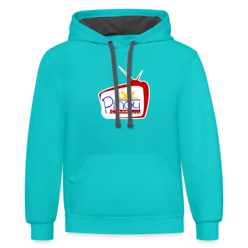 Pinoy Channel Logo - Unisex Contrast Hoodie