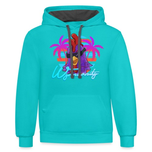 Palmed Out Wynnsanity - Contrast Hoodie