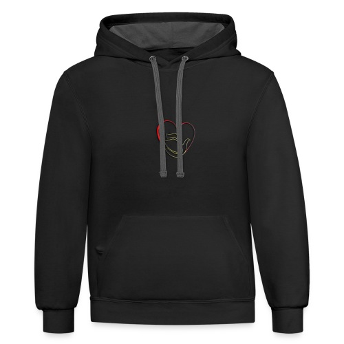 Love and Pureness of a Dove - Unisex Contrast Hoodie