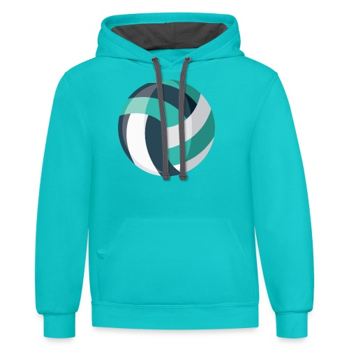 Volleyball - Unisex Contrast Hoodie