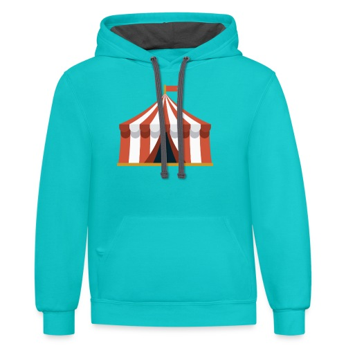 Striped Circus Tent - Unisex Contrast Hoodie