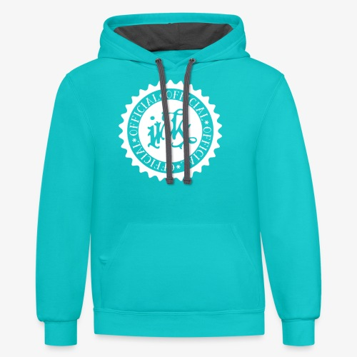official white - Unisex Contrast Hoodie