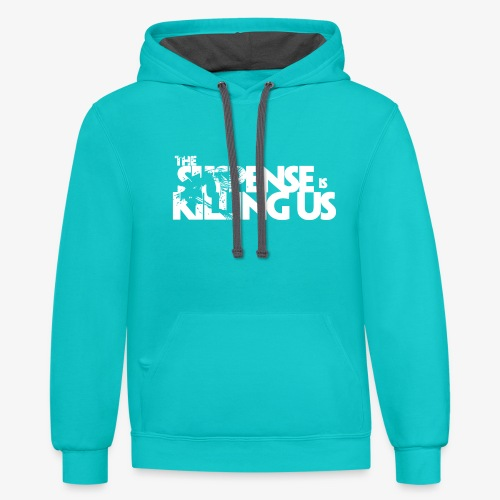 Suspense Is Killing Us White Logo - Unisex Contrast Hoodie