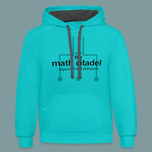 Abstract Math Citadel - Unisex Contrast Hoodie