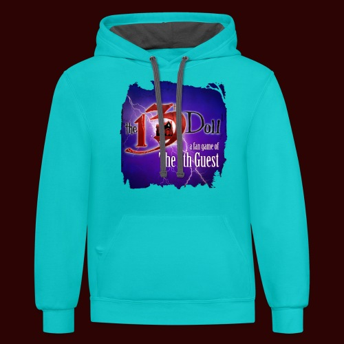 The 13th Doll Logo With Lightning - Contrast Hoodie